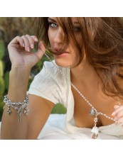 Knotty Girl Crystal Drop Necklace